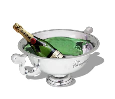 vidaXL Trophy Cup Champagne Cooler Aluminium Silver[2/5]