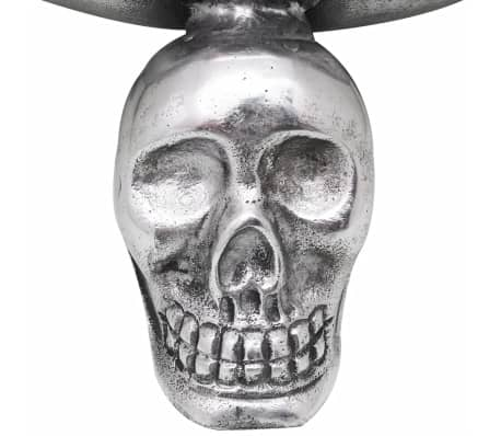 vidaXL Fruit Basket with Skull Feet Aluminum Silver[4/5]