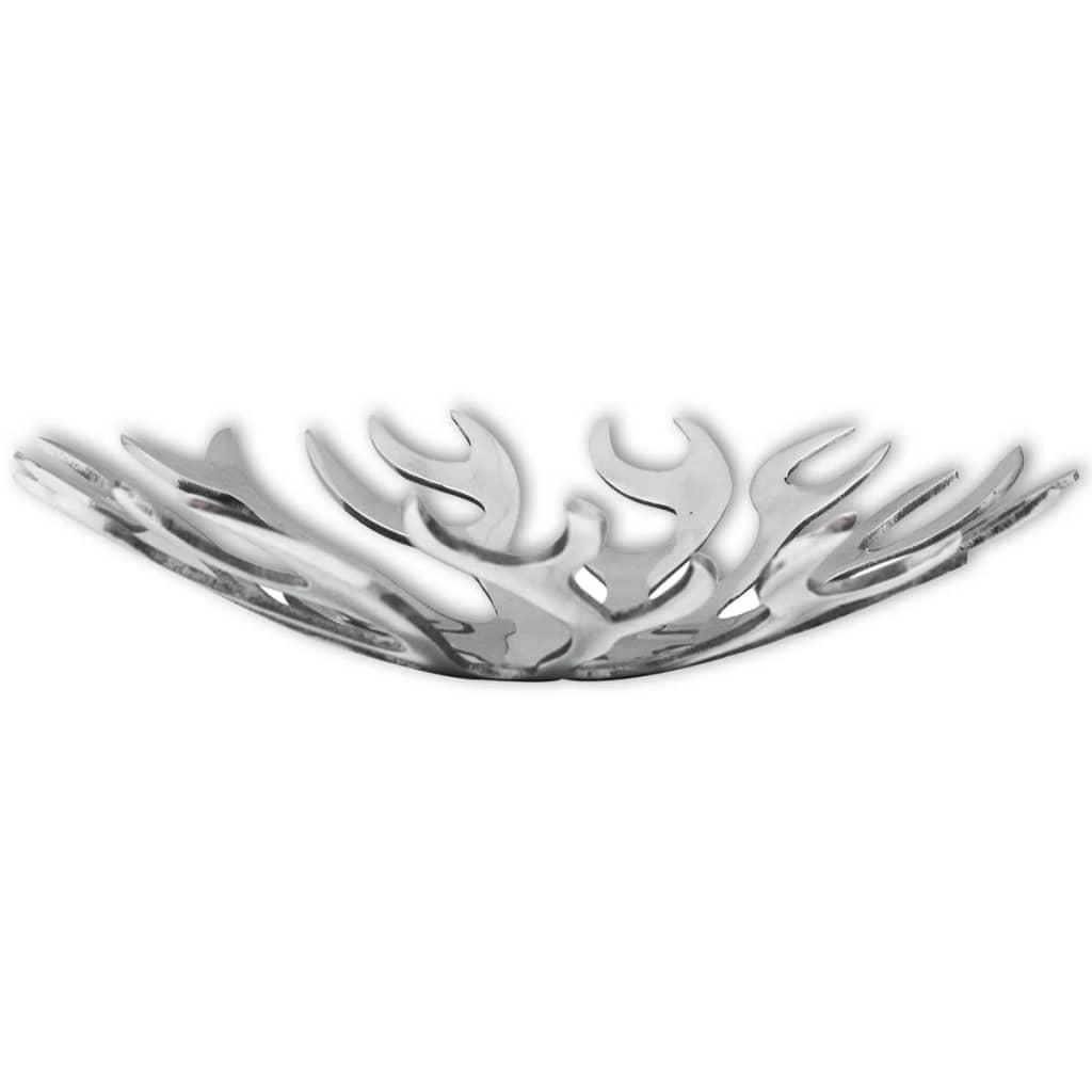 vidaXL Mísa / košík na ovoce, tvar plamenů hliník stříbrná