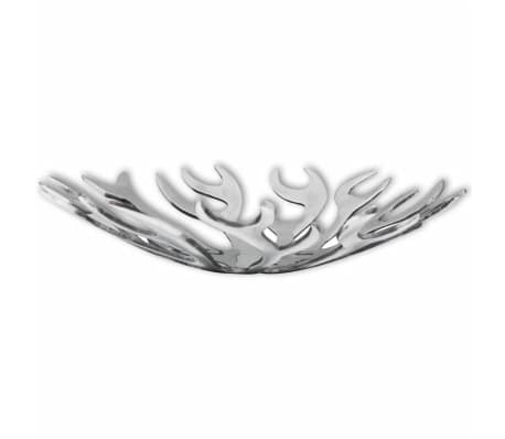 vidaXL Fruit Basket Flame Shape Aluminum Silver[1/5]