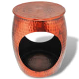 vidaXL Hocker/Side Table Barrel Shape Copper Brown