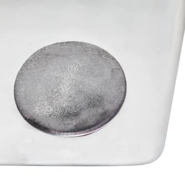 vidaXL Taburetė/staliukas, kauliuko formos, aliuminis, sidabro spalvos[5/6]
