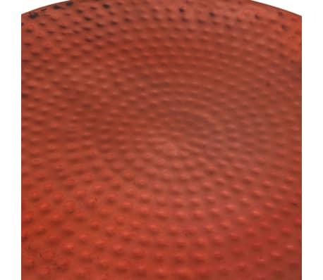 vidaXL Couchtisch Braun Rund Aluminium mit Kupferfinish[3/5]