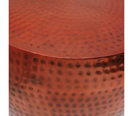 vidaXL Couchtisch Braun Rund Aluminium mit Kupferfinish[4/5]