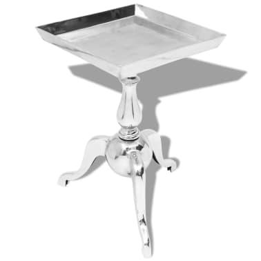 vidaXL firkantet sidebord i aluminium sølvfarvet[1/5]