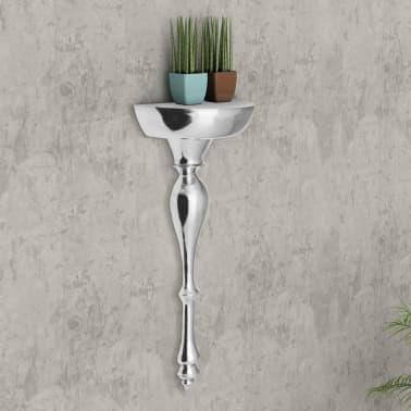 vidaXL Lentyna/konsolinis staliukas, aliuminis, sidabr. 35x17x81cm[2/7]