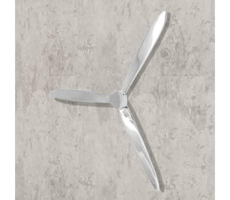 "vidaXL Wall-Mounted Propeller Aluminum Silver 27.6""[2/5]"
