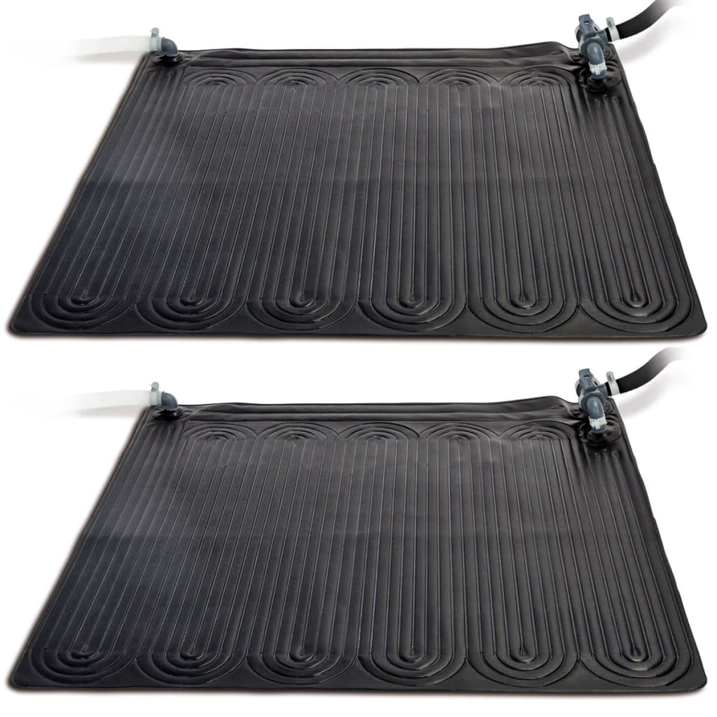 Intex Covor cu încălzire solară, 2 buc. negru, 1,2x1,2 m, PVC, 28685 poza 2021 Intex