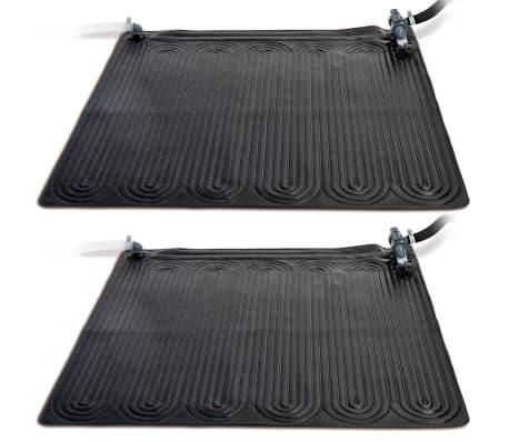 Intex Tapis chauffant solaire 2 pcs PVC 1,2 x 1,2 m Noir 28685