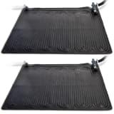 Intex baseina apsildes paklāji, 2 gab., 1,2x1,2 m, melns PVC, 28685