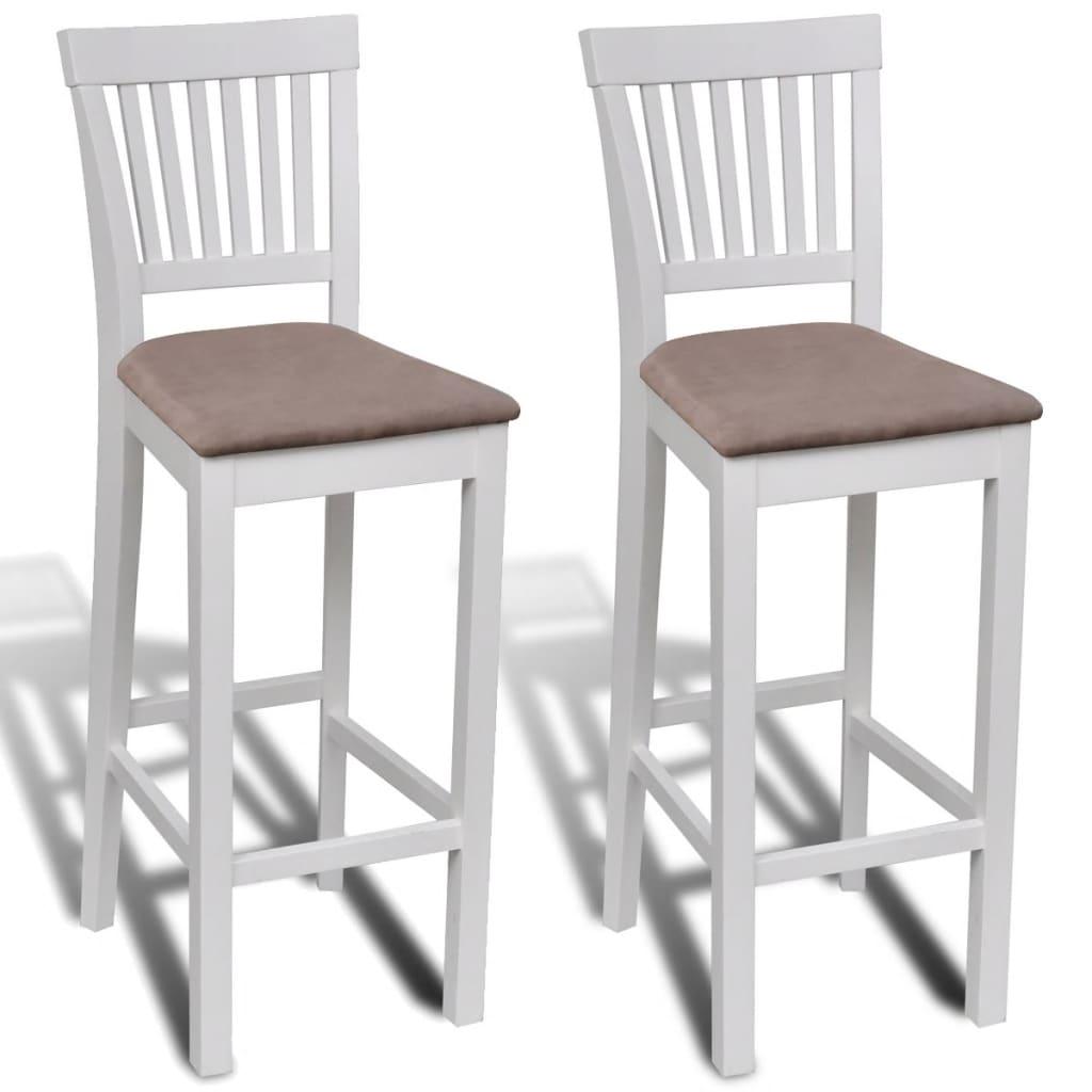 vidaXL Barové židle 2 ks, bílo-hnědé