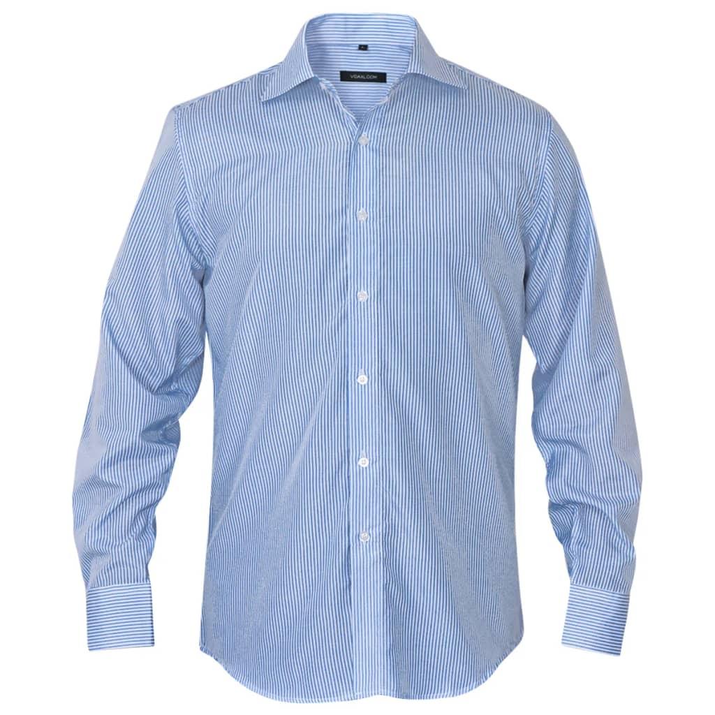 vidaXL Pánská business košile bílá/modrá proužek vel. S