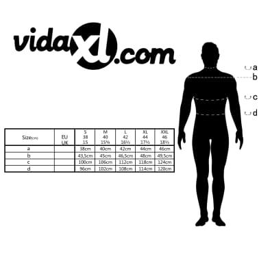 vidaXL Vyriški kostiumo marškiniai, dydis S, baltos/mėlynos juostelės[4/4]