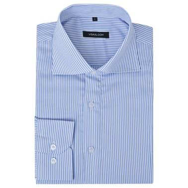vidaXL Kostymskjorta för män storlek L blå- och vitrandig[1/4]