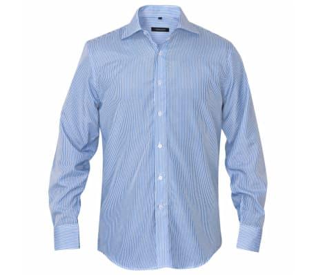 vidaXL Kostymskjorta för män storlek L blå- och vitrandig[2/4]