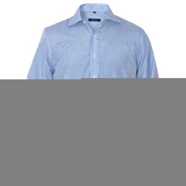 vidaXL Vyriški kostiumo marškiniai, dydis XL, baltos/mėlynos juostelės[2/4]