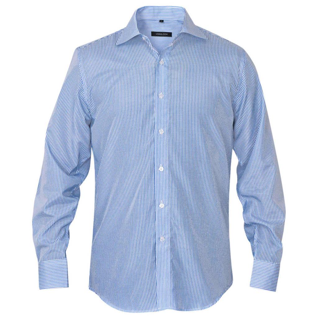 vidaXL Pánská business košile bílá/modrá proužek vel. XXL