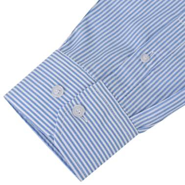 vidaXL Csíkos fehér és kék XXL méretű üzleti férfi ing[3/4]