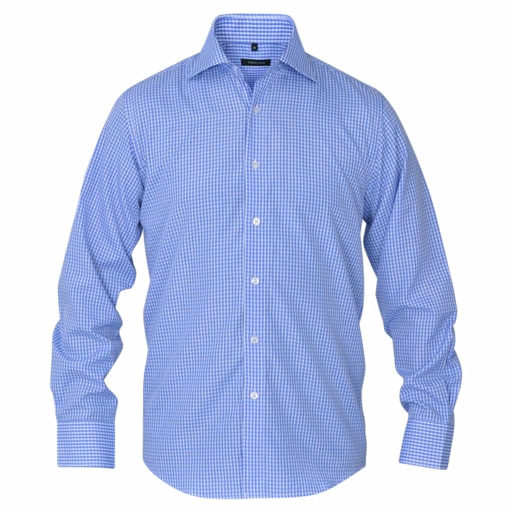 vidaXL Pánská business košile bílá/světle modrá vel. S