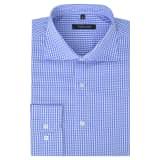 vidaXL Vyriški kostiumo marškiniai, dydis XXL, balti/žydri langeliai