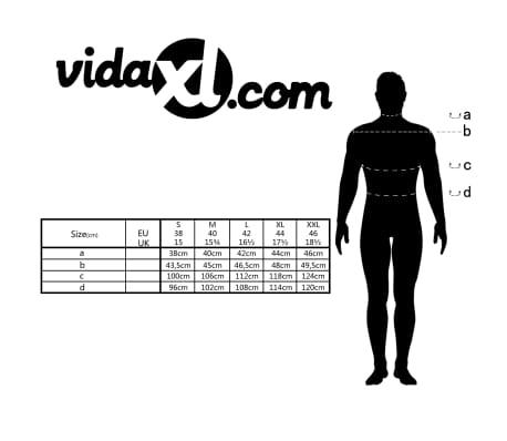 vidaXL Vyriški kostiumo marškiniai, dydis XXL, balti/žydri langeliai[4/4]