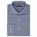 vidaXL Vyriški kostiumo marškiniai, dydis M, balti/mėlyni langeliai