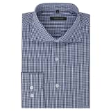vidaXL Vyriški kostiumo marškiniai, dydis XL, balti/mėlyni langeliai