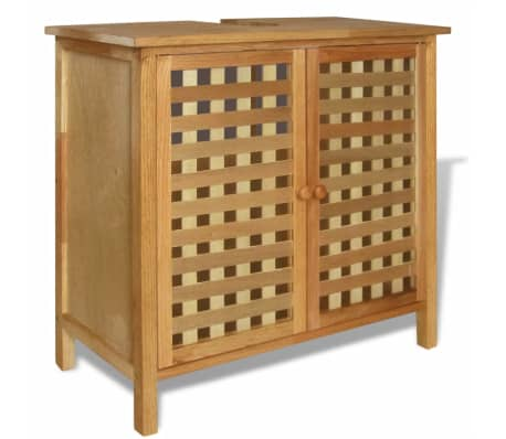 acheter vidaxl armoire pour lavabo bois de noyer massif 66 x 29 x 61 cm pas cher. Black Bedroom Furniture Sets. Home Design Ideas