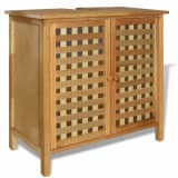 vidaXL Dulap de chiuvetă din lemn masiv de nuc 66x29x61 cm