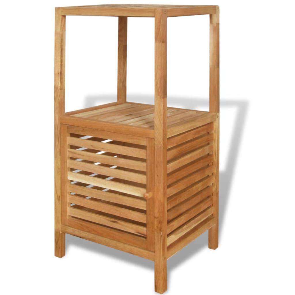 vidaXL Koupelnový regál masivní ořechové dřevo 39,5x35,5x86 cm