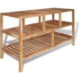 vidaXL Bathroom Shelf Solid Walnut Wood 100x40x65 cm
