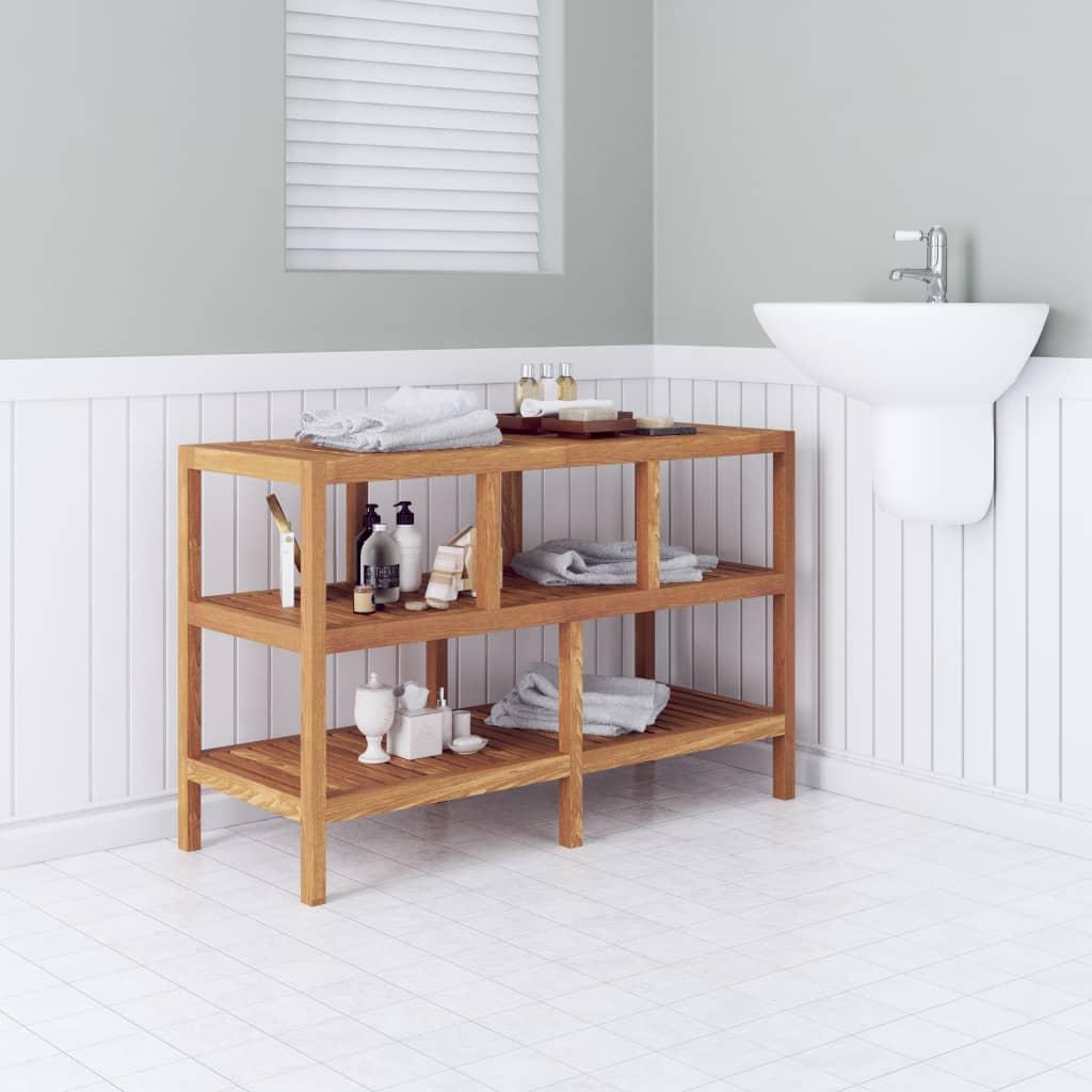 vidaXL Koupelnový regál masivní ořechové dřevo 100x40x65 cm