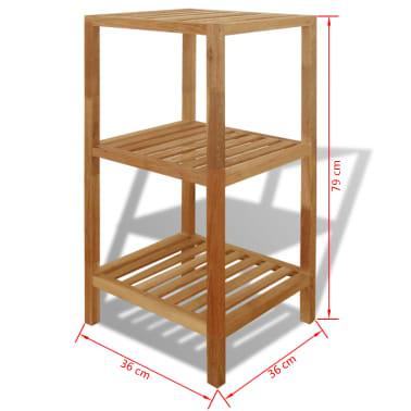 vidaxl badezimmer regal walnussholz massiv 36x36x79 cm g nstig kaufen. Black Bedroom Furniture Sets. Home Design Ideas
