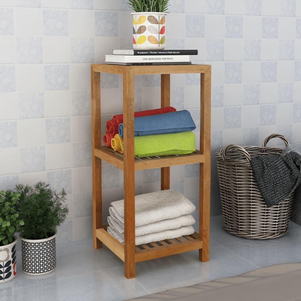 vidaXL Koupelnový regál masivní ořechové dřevo 36x36x79 cm