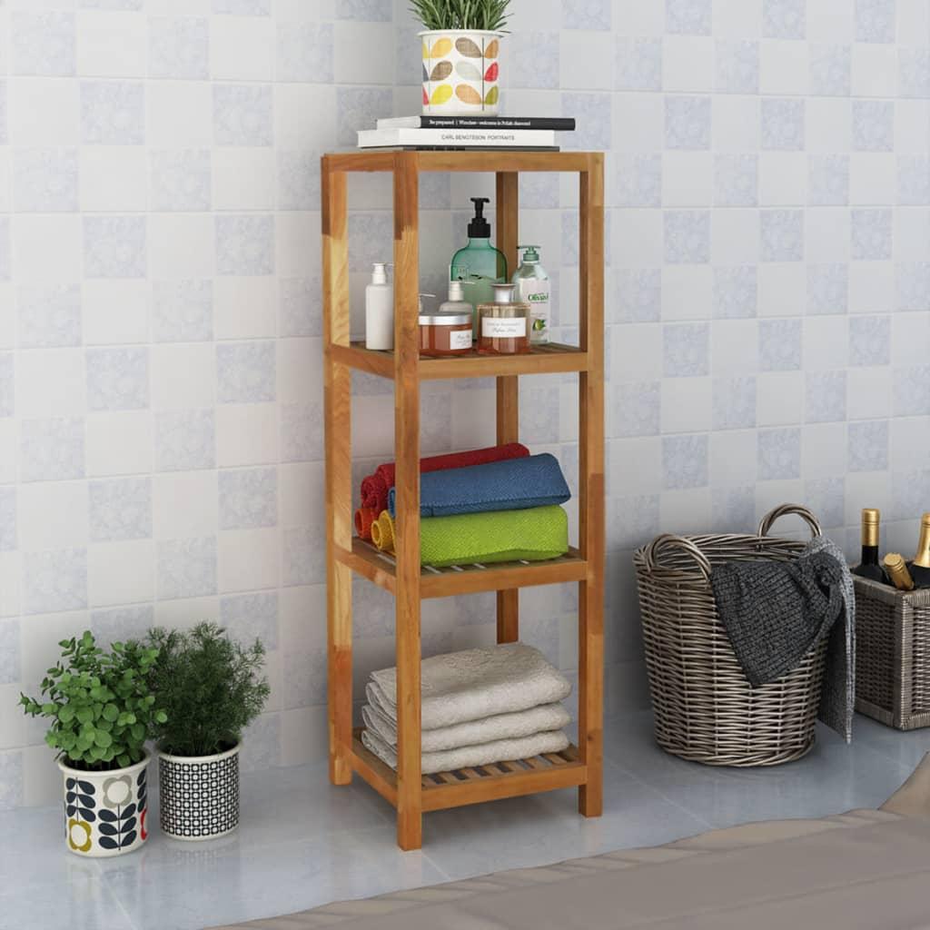 vidaXL Koupelnový regál masivní ořechové dřevo 36x36x112 cm