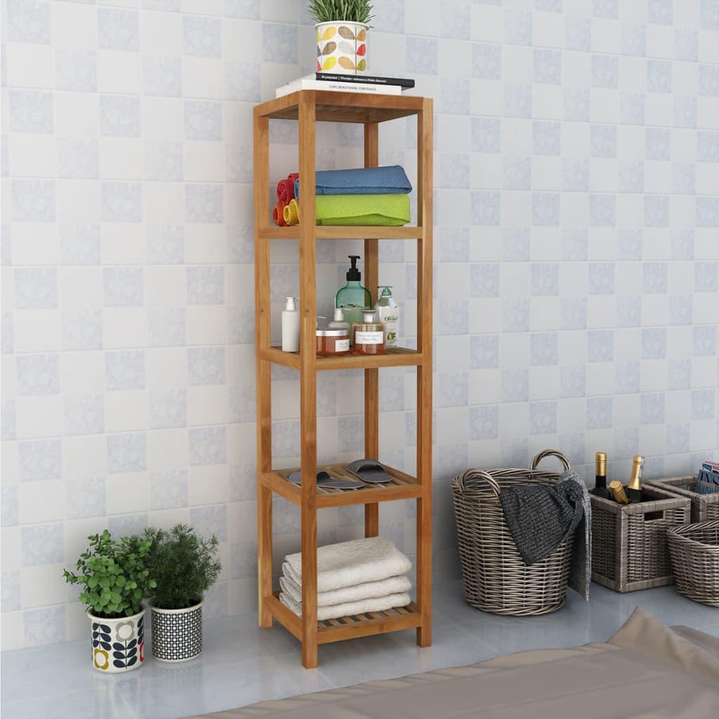 vidaXL Koupelnový regál masivní ořechové dřevo 36x36x145 cm