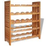 vidaXL Garrafeira em madeira de nogueira sólida 64x25x76 cm