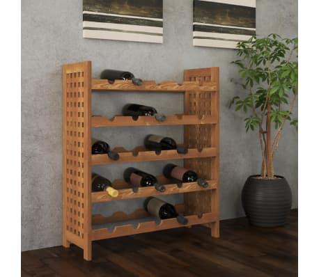 acheter vidaxl casier bouteilles de vin bois de noyer 64 x 25 x 76 cm pas cher. Black Bedroom Furniture Sets. Home Design Ideas