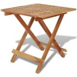 vidaXL Foldable Side Table Solid Walnut Wood 50x50x49 cm