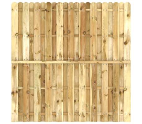 vidaXL Panou pentru gard din lemn de pin impregnat 180 x 180 cm[2/4]