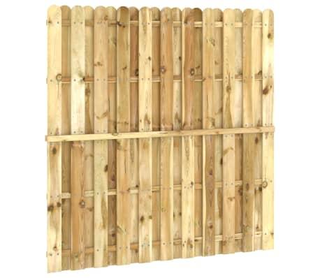 vidaXL Panou pentru gard din lemn de pin impregnat 180 x 180 cm[3/4]