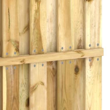 vidaXL Panneau de clôture 180 x 180 cm Bois imprégné FSC[4/4]