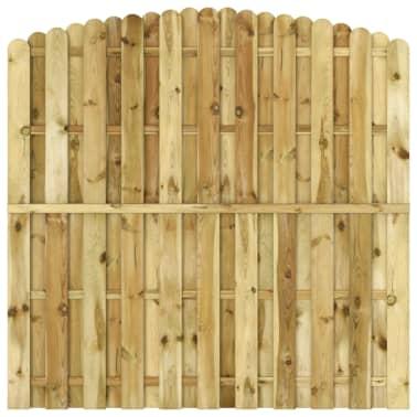 vidaXL Panou de gard, 180 x (165-180) cm, lemn de pin tratat FSC[2/4]