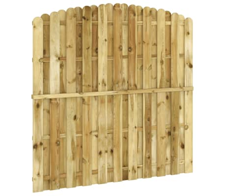 vidaXL Panou de gard, 180 x (165-180) cm, lemn de pin tratat FSC[3/4]