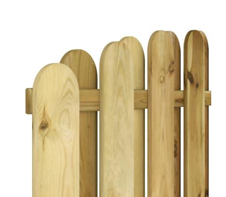vidaXL Panou de gard, 180 x (165-180) cm, lemn de pin tratat FSC[4/4]