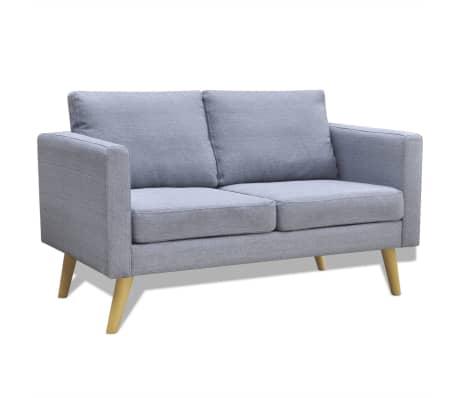 vidaXL 2-Seater Sofa Light Gray[1/3]