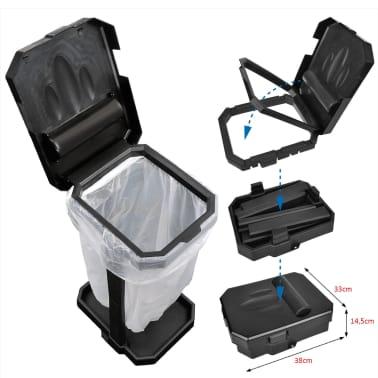 ProPlus Soporte de bolsa de basura para camping negro[6/6]