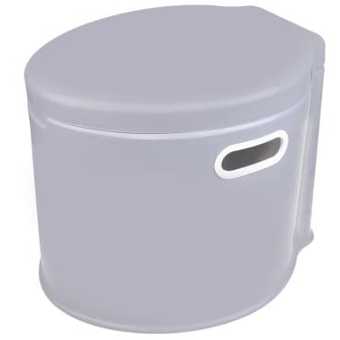 ProPlus Nešiojamas tualetas, pilkos spalvos, 7l[1/5]