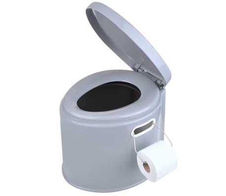 ProPlus Nešiojamas tualetas, pilkos spalvos, 7l[3/5]