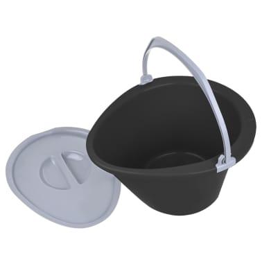 ProPlus Nešiojamas tualetas, pilkos spalvos, 7l[2/5]